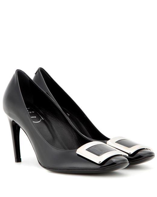 Roger Vivier - Black Belle De Nuit Patent Leather Pumps - Lyst
