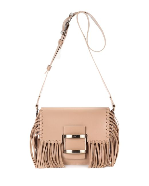 Roger Vivier | Brown Viv Mini Leather Shoulder Bag | Lyst