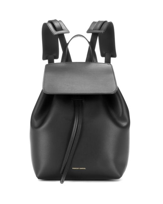 Mansur Gavriel - Black Leather Mini Backpack - Lyst