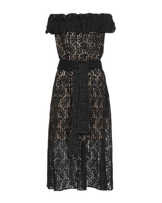 Lyst Stella Mccartney Off The Shoulder Lace Dress In Black