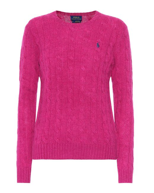 Polo Ralph Lauren | Pink Wool And Cashmere Sweater | Lyst