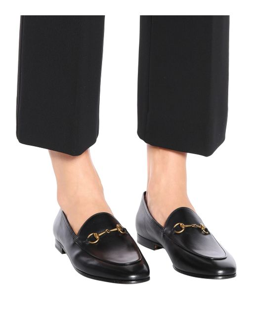 d42ef143d62 ... Gucci - Black Jordaan Leather Loafers - Lyst