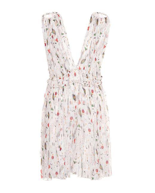 Étoile Isabel Marant - White Estelle Silk Dress - Lyst