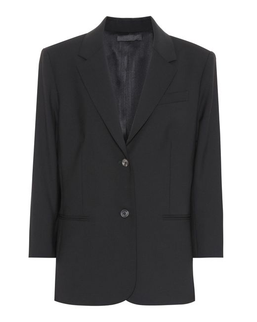 The Row - Black Blazer Schoolboy de lana elástica - Lyst
