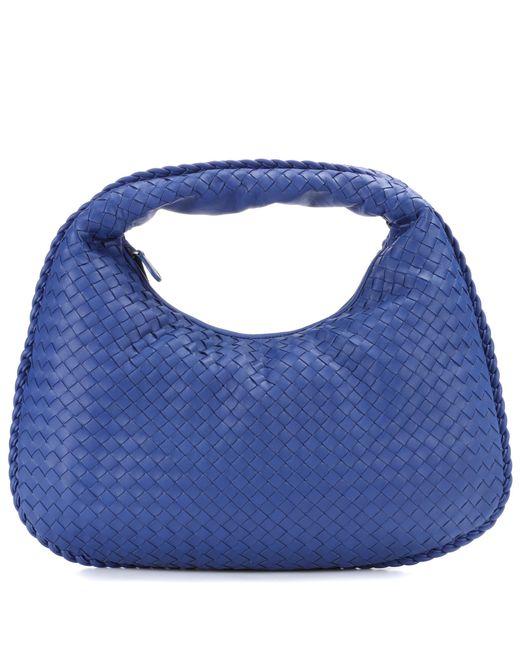 Bottega Veneta - Blue Veneta Medium Leather Shoulder Bag - Lyst