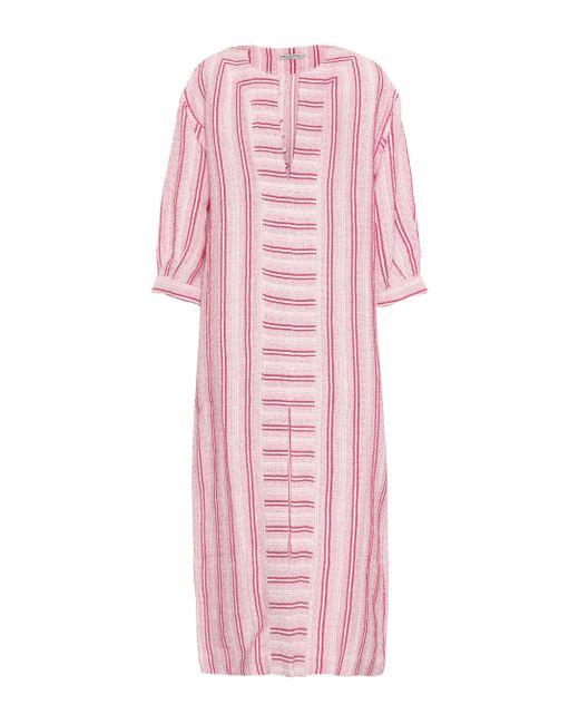 Three Graces London - Pink Mayella Cotton And Linen Kaftan - Lyst