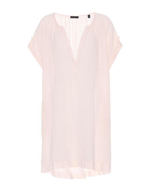 ATM - Pink Cotton Dress - Lyst