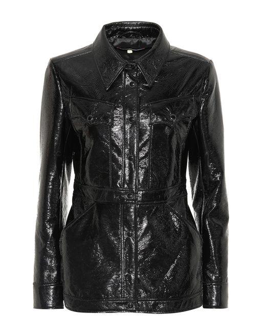 AlexaChung - Black Faux Leather Jacket - Lyst