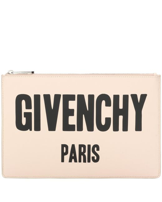 Givenchy | Black Iconic Print Printed Leather Clutch | Lyst