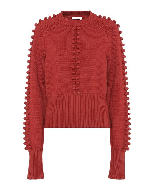 Chloé - Red Knitted Sweater - Lyst
