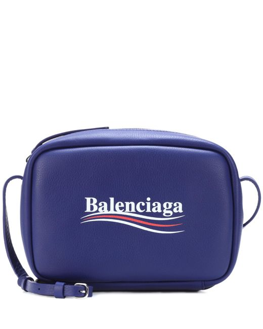Balenciaga - Blue Everyday Leather Crossbody Bag - Lyst