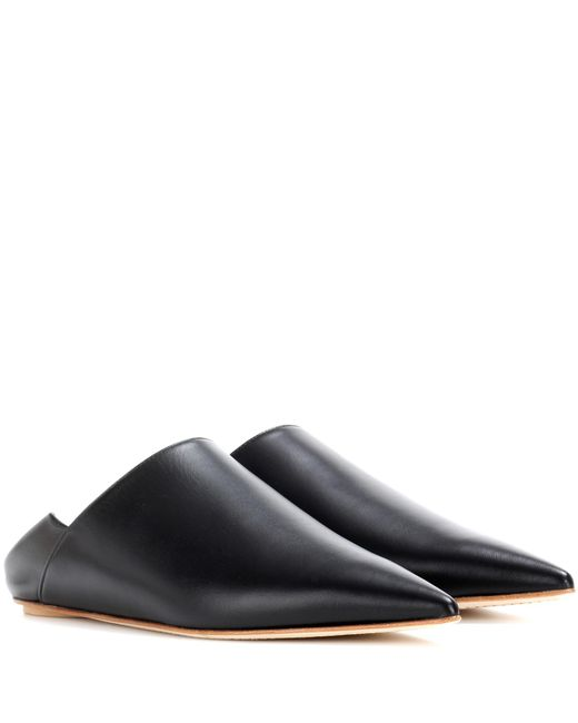 Marni - Black Leather Slippers - Lyst