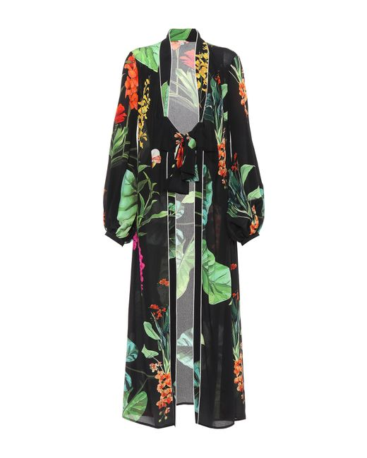 Johanna Ortiz - Black Exclusive To Mytheresa. Com – Kiribati Silk Kimono Cardigan - Lyst