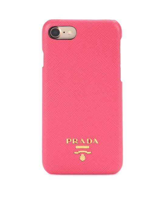 Prada | Pink Iphone 6 Leather Phone Case | Lyst