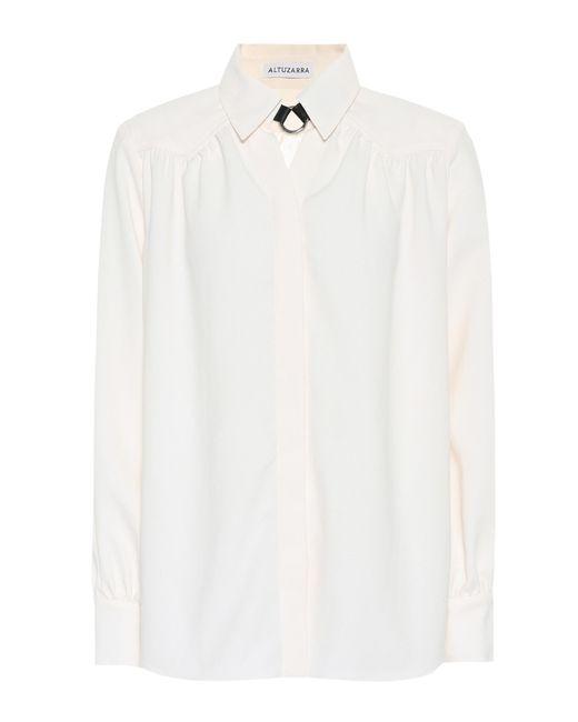Altuzarra - White Long-sleeved Blouse - Lyst