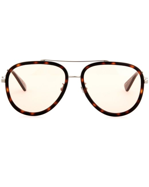 Gucci | Brown Exclusive To Mytheresa. Com — Aviator Sunglasses | Lyst