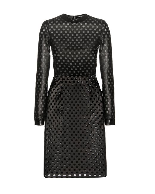 Tom Ford Black Perforated Leather Dress