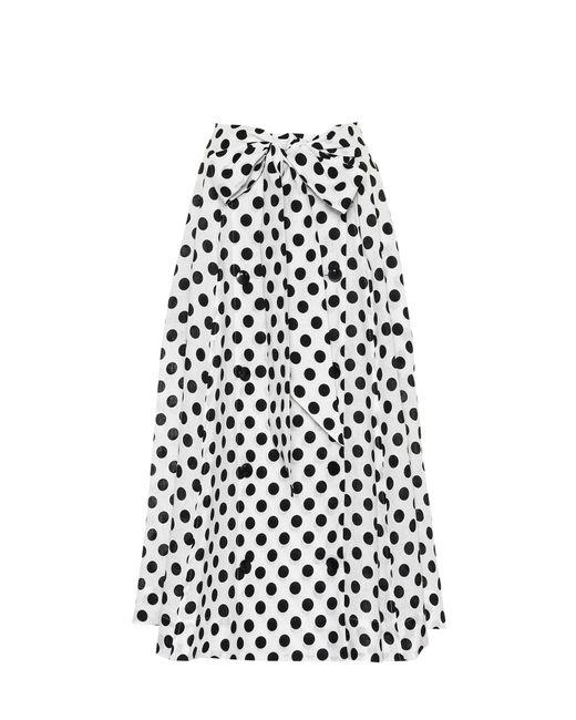 Lisa Marie Fernandez - White Diana Polka-dot Linen Skirt - Lyst