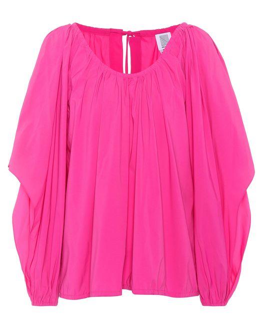 Rosie Assoulin Pink Oversized Top