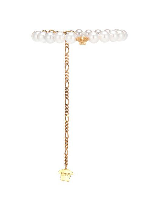 Versace - White Medusa Bracelet - Lyst