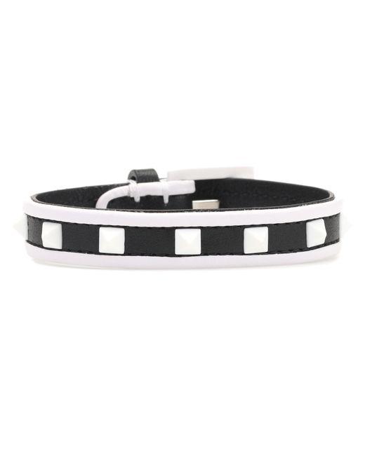 Valentino - Black Garavani Free Rockstud Leather Bracelet - Lyst
