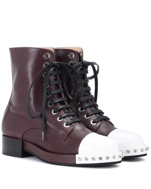 N°21 - Brown Leather Ankle Boots - Lyst