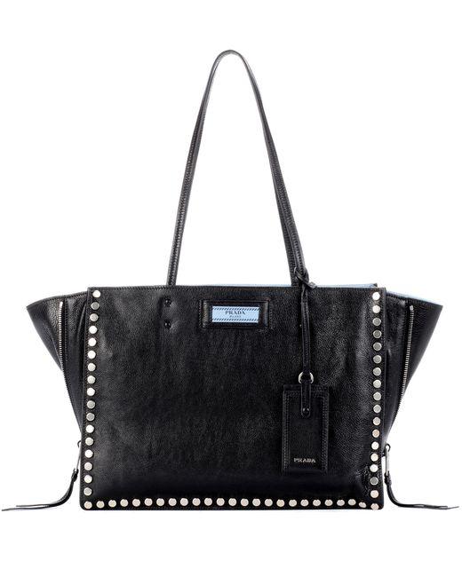 Prada | Black Etiquette Leather Tote | Lyst