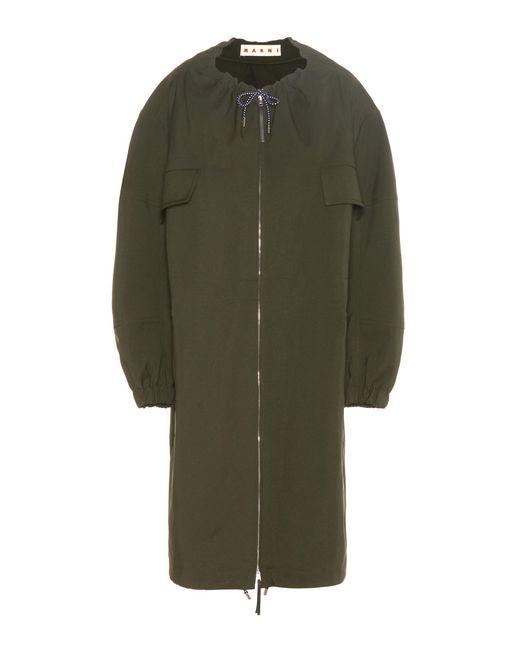 Marni - Green Technical Twill Coat - Lyst