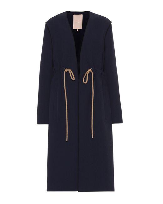Roksanda - Blue Fleur Crêpe Coat - Lyst