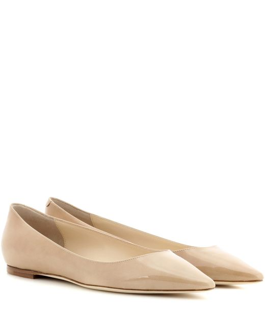 Jimmy Choo - Natural Romy Patent Leather Ballerinas - Lyst