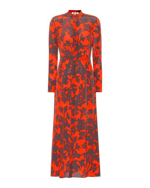 Diane von Furstenberg - Red Silk Shirt Dress - Lyst