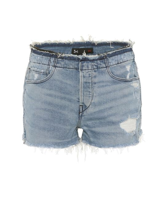 3x1 - Blue Stripped Shelter Denim Shorts - Lyst