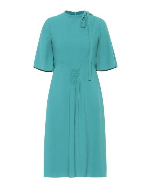 Valentino - Green Crêpe Dress - Lyst