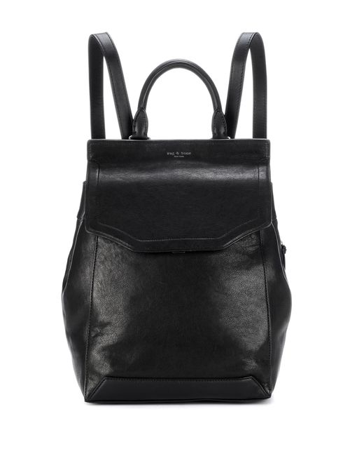 Rag & Bone - Black Pilot Leather Backpack - Lyst