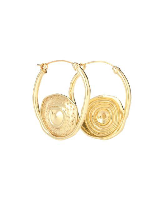 Ellery - Metallic Single Pop Hoop Earrings - Lyst