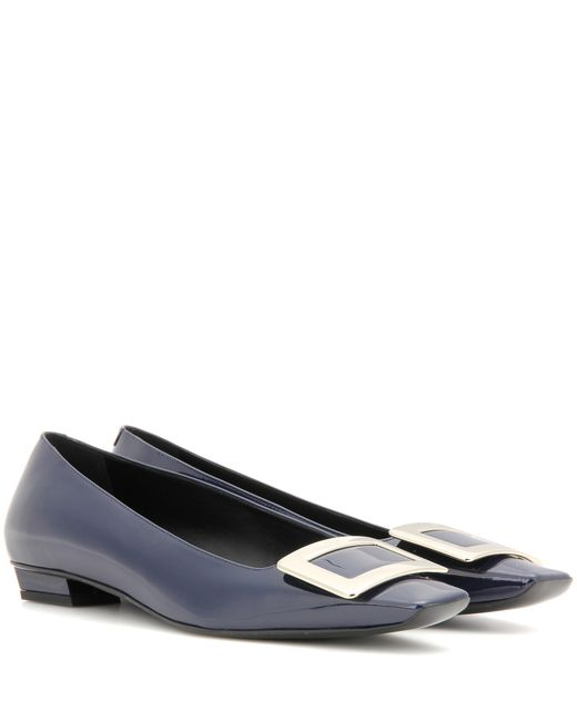 Roger Vivier | Blue Belle Vivier Patent Leather Ballerinas | Lyst