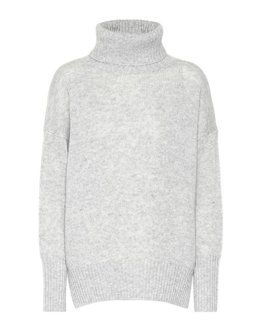 Jardin Des Orangers - Gray Cashmere Turtleneck Sweater - Lyst