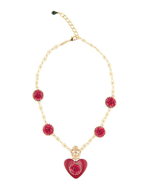 Dolce & Gabbana | Metallic Embellished Necklace | Lyst