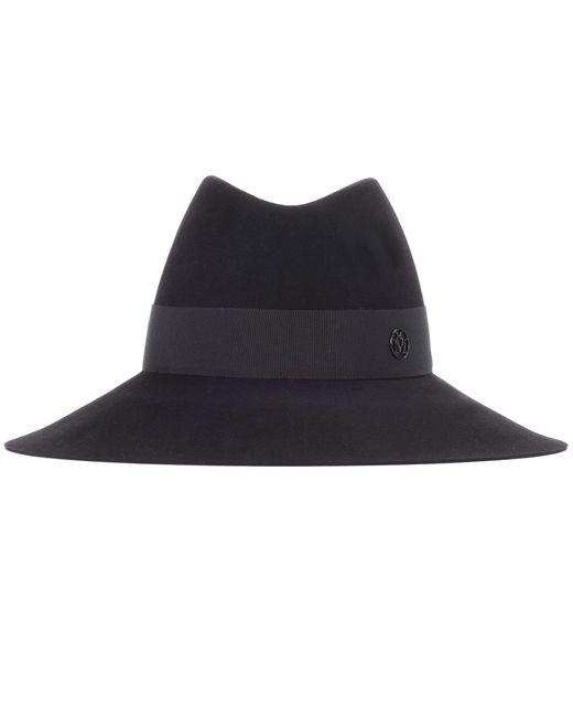 Maison Michel - Black Kate Rabbit-felt Hat - Lyst