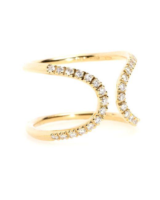 Roberto Marroni | Metallic Diamond & Gold Inverted Arch Ring | Lyst