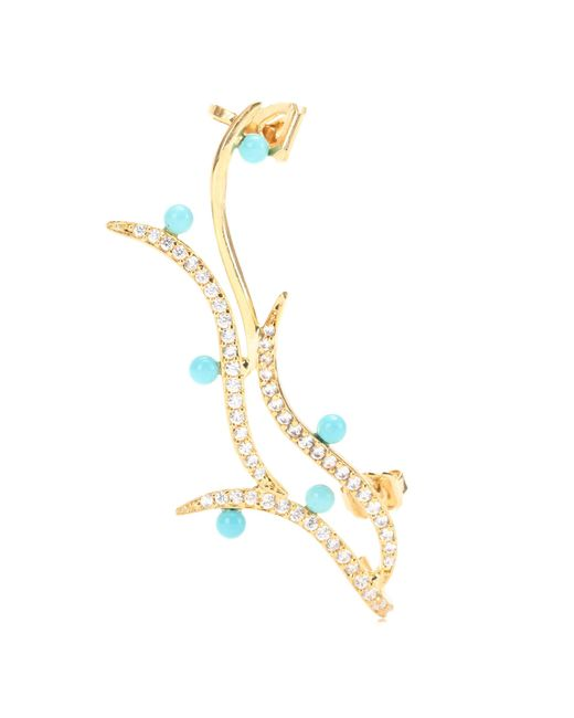 Joanna Laura Constantine | Metallic 18kt Gold-plated Earring With Swarovski Crystals | Lyst