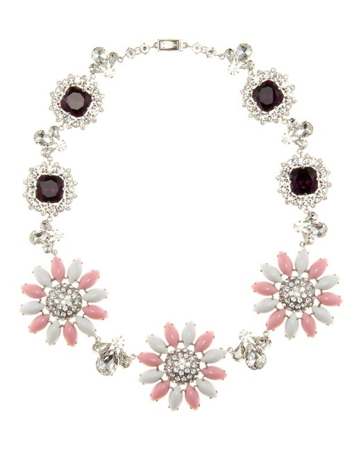 Miu Miu | Pink Crystal-embellished Necklace | Lyst