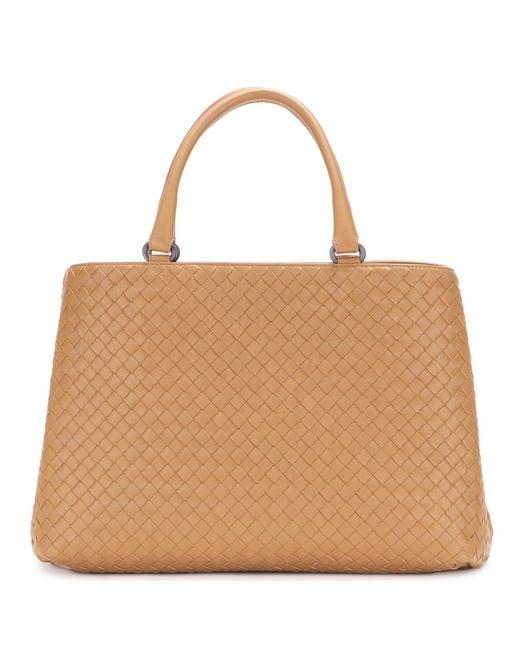 Bottega Veneta | Brown Intrecciato Leather Tote | Lyst