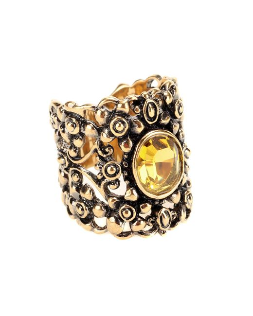 Gucci | Metallic Crystal Embellished Ring | Lyst