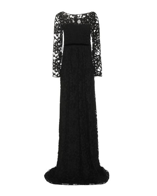 Burberry | Black Embroidered Cotton-blend Tulle Gown | Lyst
