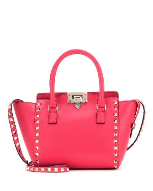 Valentino | Red Rockstud Mini Leather Shoulder Bag | Lyst