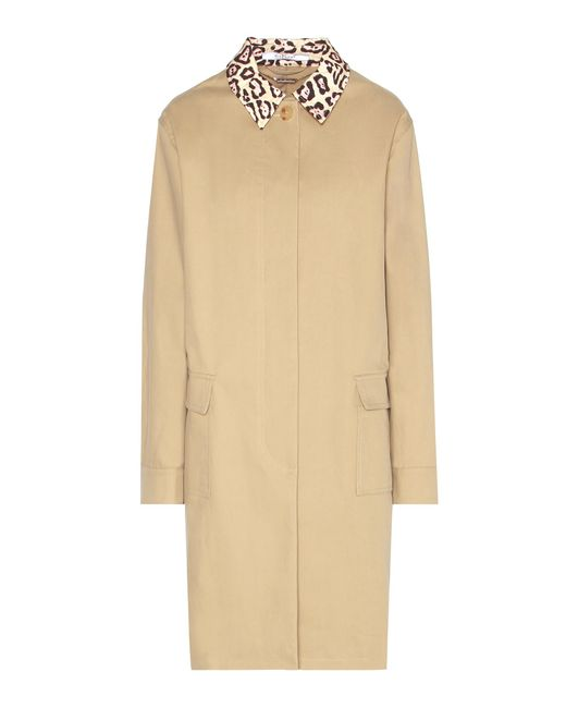 Givenchy | Natural Cotton-blend Coat | Lyst
