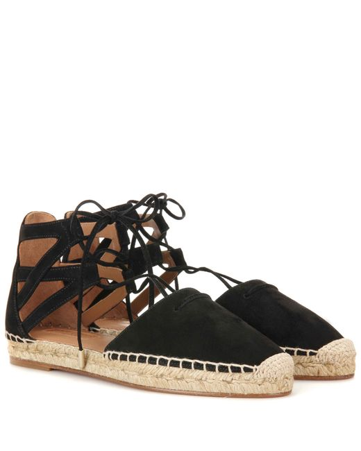 Aquazzura | Multicolor Belgravia Lace-Up Suede Espadrilles | Lyst