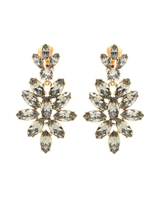 Oscar de la Renta | Metallic Swarovski Crystal-embellished Clip-on Earrings | Lyst