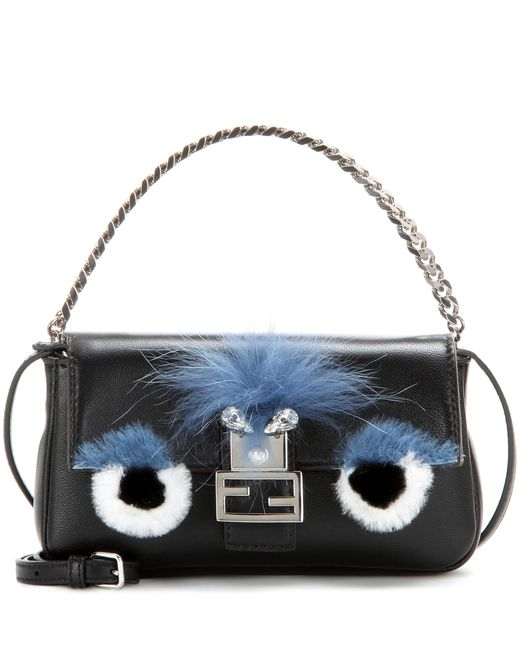 Fendi | Blue 'monster' Genuine Rabbit Fur & Genuine Fox Fur Micro Baguette | Lyst